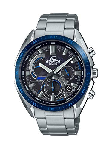 Casio Men's Edifice Quartz Stainless Steel Strap, Silver, 22 Casual Watch (Model: EFR-570DB-1BVCR)