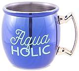 Pavilion - Aquaholic - 2 Oz Shiny Purple Stainless Steel Moscow Mule Shot Glass