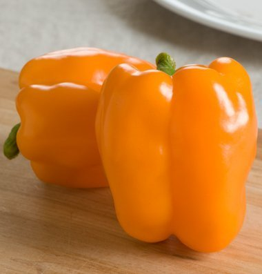 David's Garden Seeds Pepper Bell Gourmet D2648GC (Orange) 25 Hybrid Seeds
