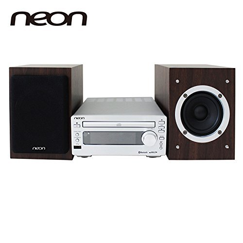Neon electronic MCB1533-37 Micro CD Music System with Bluetooth Compact CD Player Stereo Home Music System with FM by Neon