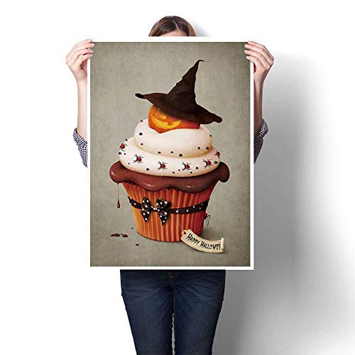 SCOCICI1588 DIY 3D Painting,Halloween Cake,Holiday Greeting Card. Home Wall Decor,52