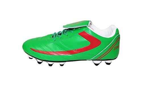 Schnürsenkel Männer High Performance Cleat Durable Fußballtraining Schnüren Sportliche Leistung Schuhe Grün / Weiß / Rot