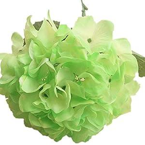 jiumengya 4pcs Real Touch Hydrangea Flower Latex Hydrangea Fake Single Large Size Hydrangeas for Wedding Centerpieces Party Decorative Flowers (Green) 60
