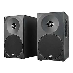 """Woxter DL-410 - Altavoces estéreo 2.0 (autoamplificados con 150W de potencia, madera, woofer de 4"""", 2 Tweeter, 3.5 mm, RCA, bass réflex, control de volumen, agudos y graves) color negro"""