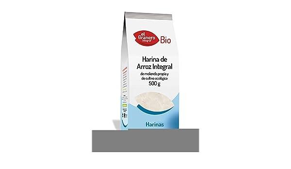EL GRANERO HARINA DE ARROZ INTEGRAL BIO, 500 g: Amazon.es ...
