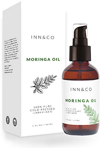 Inn&Co Highest Quality Organic Moringa Oil - 4 fl Oz - 100% Pure, Undiluted, Cold Pressed, And Unrefined - Hexane-Free - 365 Day Guarantee