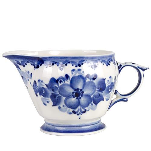 Hand-painted Liza Milk Jug. Blue and White Porcelain. -