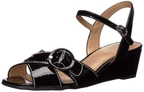 - Aerosoles Women's Hornet Wedge Sandal, Black Patent, 7.5 M US
