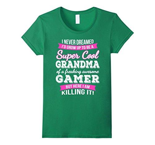 Womens Gamer's Grandma T-Shirt Funny Gift