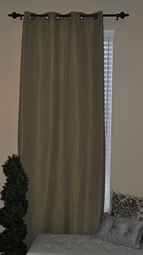 EverRouge Solid Texture Solar Blackout Curtain, 84-Inch, Olive