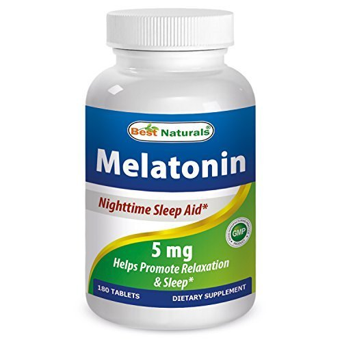 Best Naturals Melatonin 5mg 180 Tabs- Fast Dissolved for early effectiveness - Helps Promote Relaxation and Sleep - Wake up Refreshed and Revitalized by Best Naturals ()