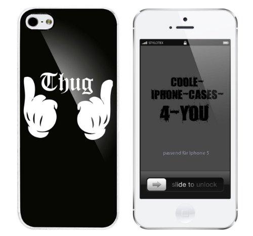 Iphone 5 / 5S Schutzhülle Thug - weisser Rahmen