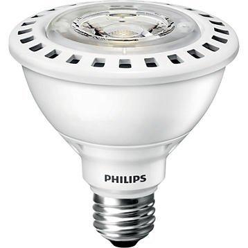 (12-Pack) Philips 435305 12PAR30S/F25 3000 DIM AF SO 12-Watt (75W Equal) 3000K PAR30S Dimmable LED 25 Degree Flood Light Bulb