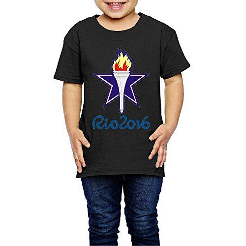 Blake Yarn (Kim Lennon Rio Torch 2016 Short Sleeve Girls T-shirt Summer Size 5-6 Toddler Black)