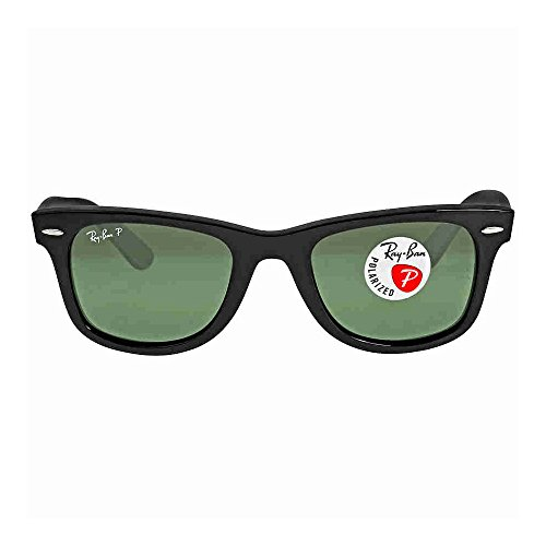 Rayban Women's rb2140 901/58 Black Frame/Green Lens Wayfarer 54mm - 901 Rb2140 54