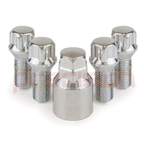Precision Chrome Locking Bolts for /Àudi A5 with Aftermarket Alloy Wheels PN.SFP-B14123