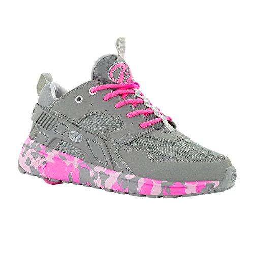 Heelys HE100098H Kid's Force Sneakers, Grey/Pink Confetti - 6 ()
