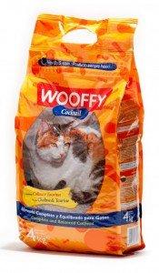 Wooffy Pienso para Gato NG Gatos Cocktail 4 kg. Pienso para Gato Completo y equilibrado