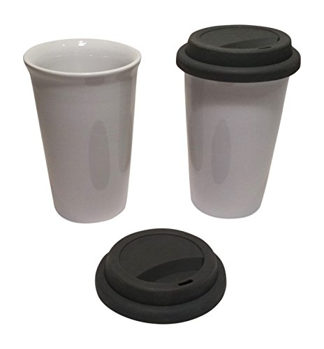 12-oz-double-wall-ceramic-tumbler-in-white-with-silicone-lid-in-gray-set-of-2