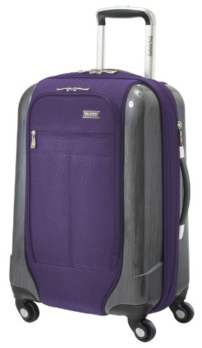 Ricardo Beverly Hills Luggage Crystal City 20 Inch Expandable Spinner Carry-on Bag, Imperial Purple, Medium