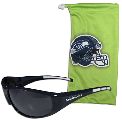 Seahawks Seattle Sunglasses - NFL Seattle Seahawks Adult Sunglass and Bag Set, Green