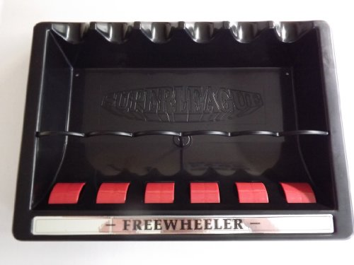 Brand New Superleague Freewheeler Wall Cue Rack Hold up to 6 Pool or...