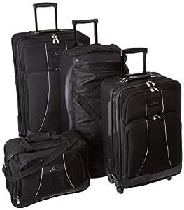 Skyway Luggage Seville 5-Piece Travel Set, Black, One Size