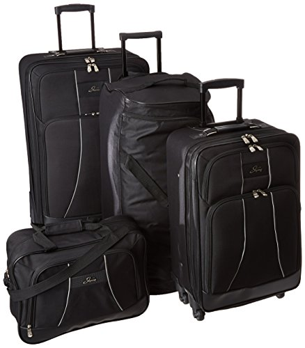 Skyway Luggage Seville 5-Piece Travel Set, Black, One Size by Skyway
