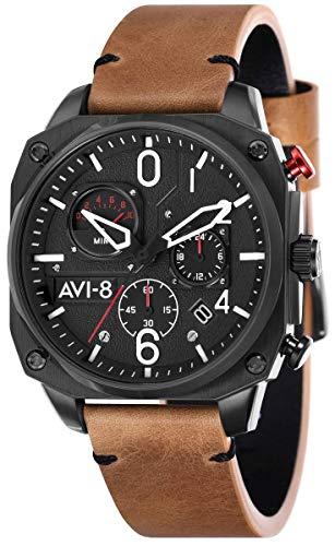 (AVI-8 Mens Hawker Hunter Watch - Brown/Black)