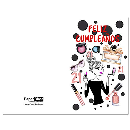 Make Up Feliz Cumpleanos 21st Birthday Card In Spanish