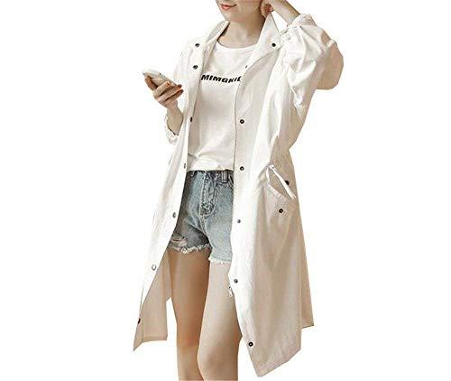 Femme Manteau Elgante Printemps Automne Casual Simple Boutonnage Manches Longues Young Styles Longues Manteau De Transition Legere Uni Manche Fashion Baggy Trench Outerwear Schwarz