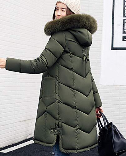 Doudoune Hiver Parka Maison Manteau Vert Long Femme Rembourr Fille OPnwk0