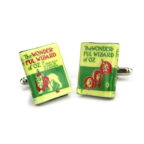 (The WIZARD OF OZ L. Frank Baum Clay Mini Book Cufflinks by Book)