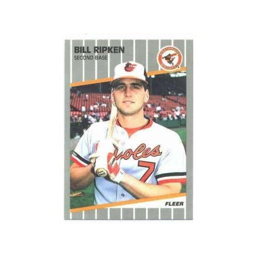 1989 Fleer Error #616A Bill Ripken - Baltimore Orioles (Obsenity Written on Bat Knob)(Baseball Cards)
