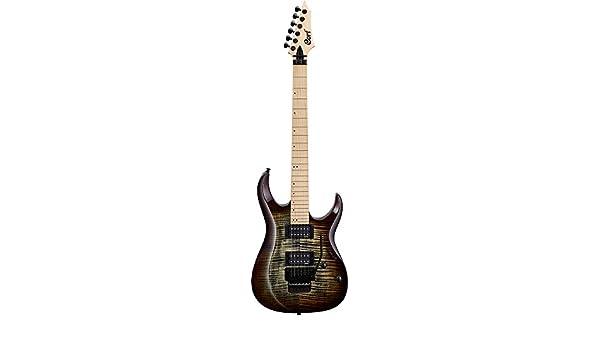 Guitarra electrica cuerpo macizo Cort X300 GRB: Amazon.es ...