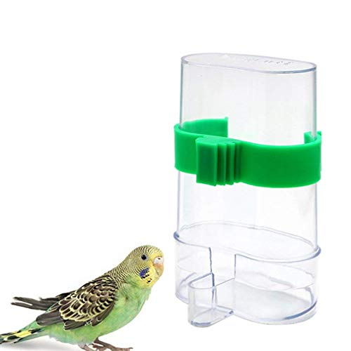 Bird Food Feeding Seed Automatic Feeder Water Dispenser for Parrot Budgies Parakeet Cockatiels Conure Lovebirds Finch African Greys Cockatoo Cage