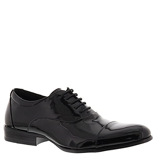 STACY ADAMS Men's Gala Cap Toe Oxford Black Patent 8 EE US (Leather Patent Polished Black)