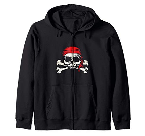 (Jolly Roger Pirate | Skull and Crossbones | Gift Zip Hoodie)