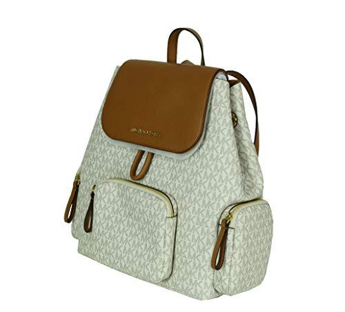 Michael Kors Abbey Large Signature Cargo Backpack (VANILLA/ACRN)