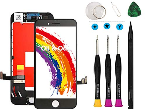Oli & Ode Compatible with iPhone 8 Plus Screen Replacement LCD Digitizer Touch Screen Assembly Set with 3D Touch, Repair Tools and Replacement Manual Include (Black)