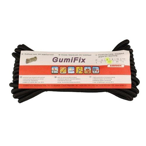 LANEX Gummischnur Gummikordel 4mm-10mtr schwarz NEU