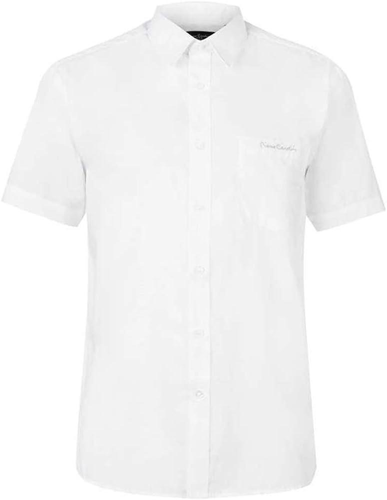 Pierre Cardin/ /Camicia da uomo a maniche corte con fantasia e chiusura a bottone