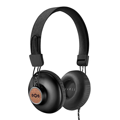 House of Marley Positive Vibration 2: Over-Ear Wired Headphones with Microphone, Plush Ear Cushions, and Sustainable…