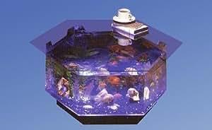 Long octagon aqua coffee table aquarium pet supplies - Fish tank coffee table amazon ...