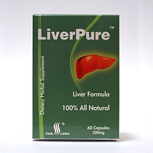 LiverPure ™ with 15 Herbs: Milk Thistle Extract Silymarin, Taurine, Schizandra, Ligustrum, Eclipta, Mulberry, All Natural, Liver Herbal Supplement, 60 Capsules