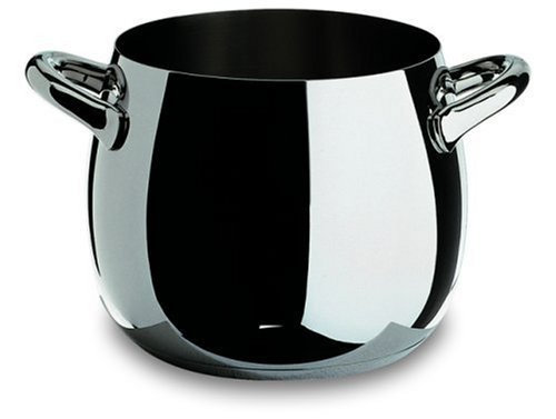 Alessi Mami Stock Pot (Alessi,SG100/24 MAMI, Stockpot in 18/10 stainless steel mirror polished,10 qt 19 oz by Alessi)