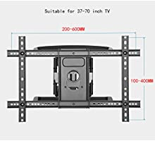 Liutao Rack para TV Rack para TV Televisor LCD telescópico Giratorio 50/55/ 60/65 (37-70 Pulgadas) (Color : Black, tamaño : 41.8 * 64.3cm): Amazon.es: Hogar