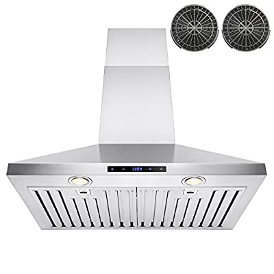 "FIREBIRD 30"" Stainless Steel Wall Mount 760CFM Powerful Kitchen Vent Cooking Fan Ductless Range Hood"