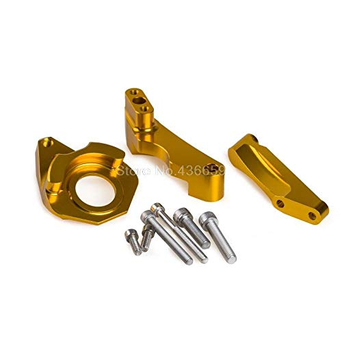 Iris-Shop - New Arrival Steering Damper Mounting Kit For Suzuki GSX-R600 GSX-R750 K4 K5 2004-2005 Gold