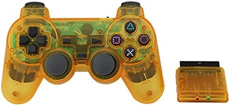 Color : A XIWAN for Sony PS2 Wireless Controller Bluetooth Gamepad for Play Station 2 Joystick-Konsole for Dualshock 2 Transparente Farbe